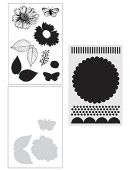 Wendy Vecchi Stamp, Die & Stencil Set - Country Flowers - WVZ65982